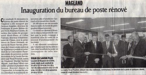 Magland, La Poste