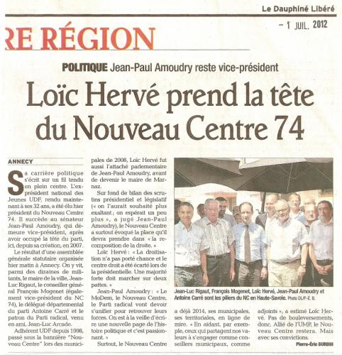 Annecy, Nouveau Centre, Haute-Savoie, Loïc HERVE