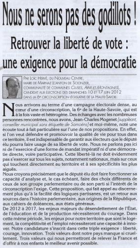 Jean Charles MOGENET, Loïc HERVE, Le Faucigny