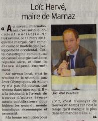 Loïc HERVE, Maire de Marnaz, 2011, 2012