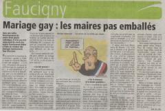mariage gay, loi taubira, homosexuels