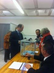 Loïc Hervé, bureau de vote