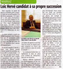 Loïc, Hervé, élections municipales, 2014, Marnaz