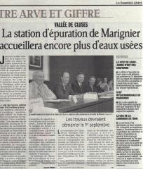 SIVOM de la Région de Cluses, Marnaz, Marignier, STEP, assainissement collectif